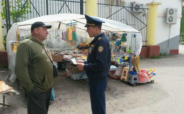 Штраф за незаконную торговлю на улице без разрешающих документов